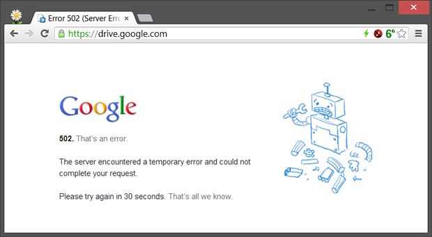 Google Drive is offline for many users.