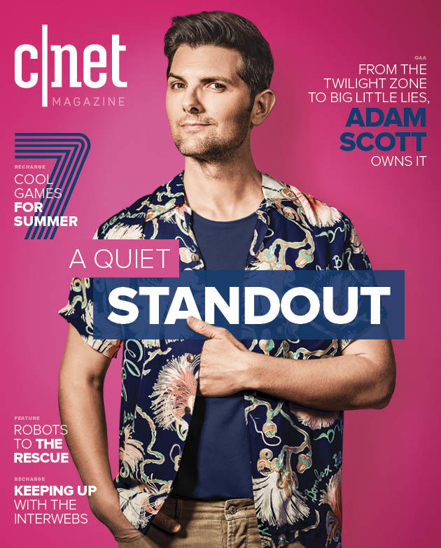 The cover of CNET Magazine's fall 2019 issue, featuring actor Adam Scott.