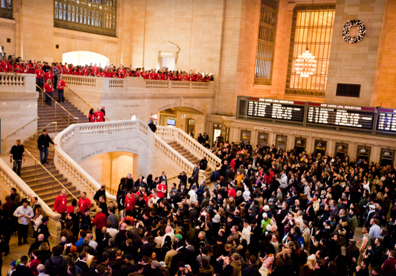 The grand opening of Apple's store in New York City's Grand Central Terminal last year.