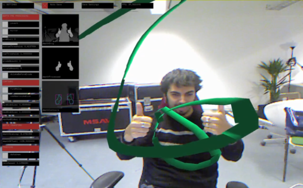 A Mac OS X implementation of Kinect called OfxKinect is demonstrated by Vimeo user Memo Akten.