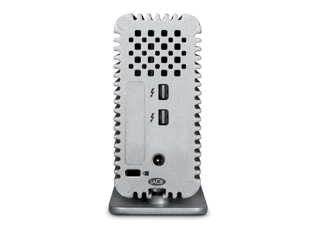 The new drive offers two Thunderbolt ports and requires a separate power adapter to work.