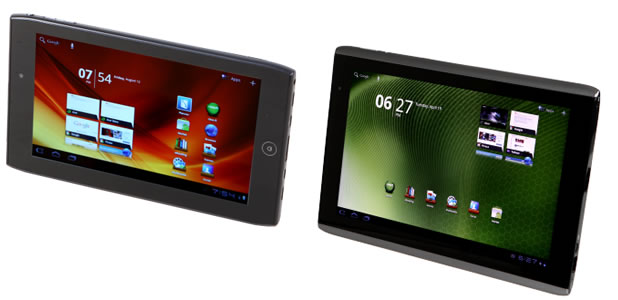 Acer's A100 and A500 tablets are due for a taste of Ice Cream Sandwich.