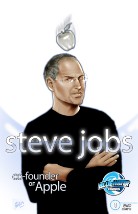 The cover of Bluewater's upcoming Steve Jobs comic book biography.