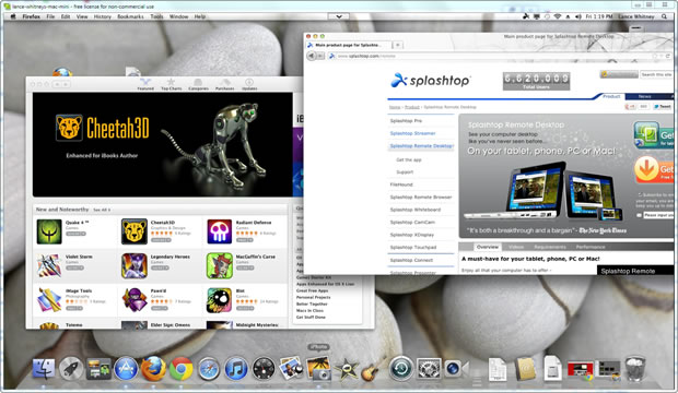 Splashtop Remote is one way to control your Mac from your PC.