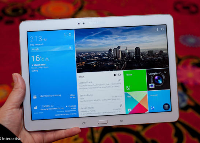 Samsung introduced the Galaxy TabPro, an Android tablet with a large 12.2-inch screen, at CES 2014.