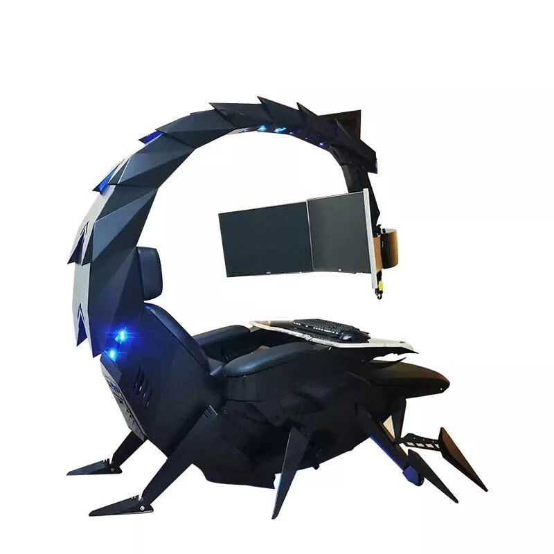 This giant scorpion is really a zero-gravity gaming chair and computer workstation