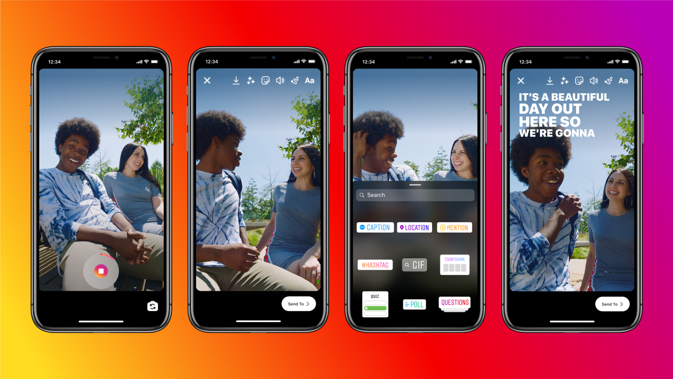 Instagram Stories adds auto-caption sticker so you can watch without sound  - CNET