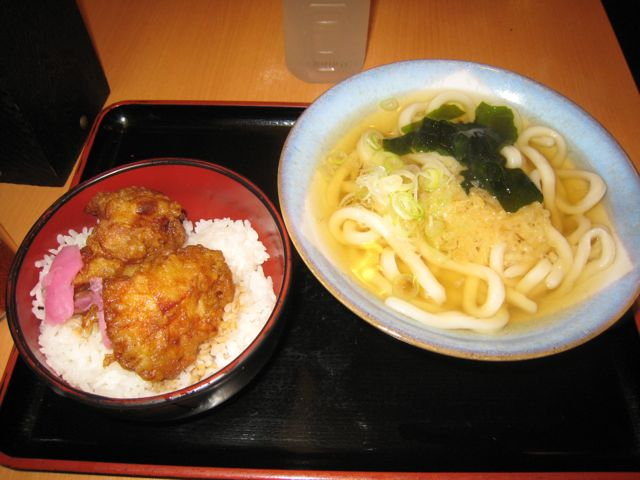 Udon combo in Tokyo