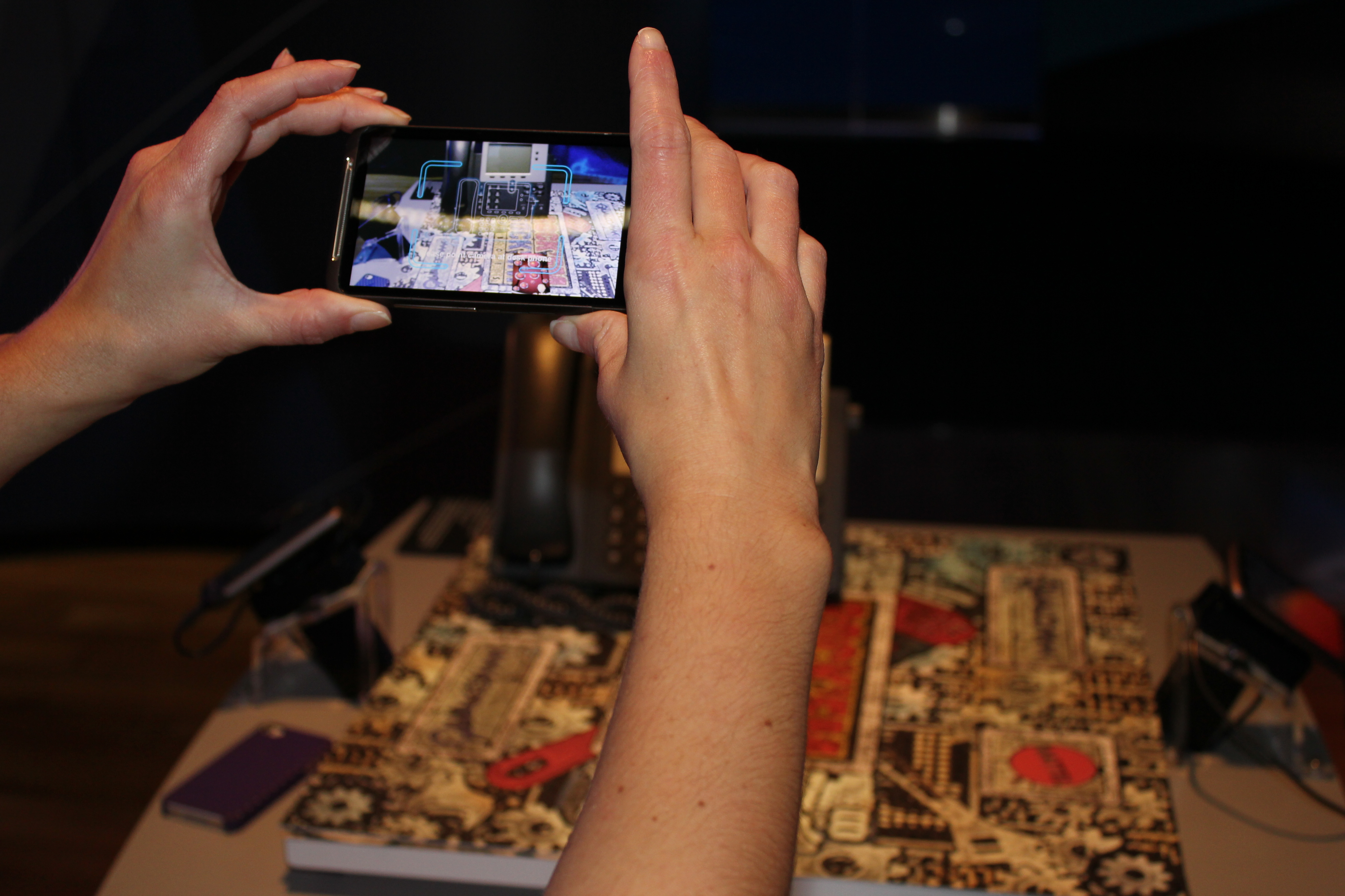 An augmented reality user guide