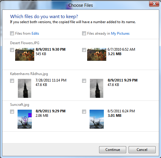 Windows 8 will present a clearer dialog  box in the event of duplicate filenames.