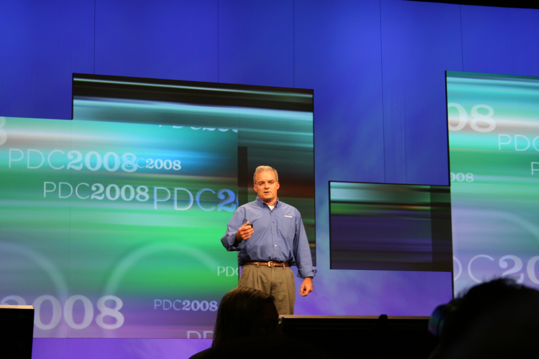 Microsoft's Dave Thompson tells attendees at the Microsoft Professional Developer Conference that all of the company's enterprise software will be offered as an online service over time.