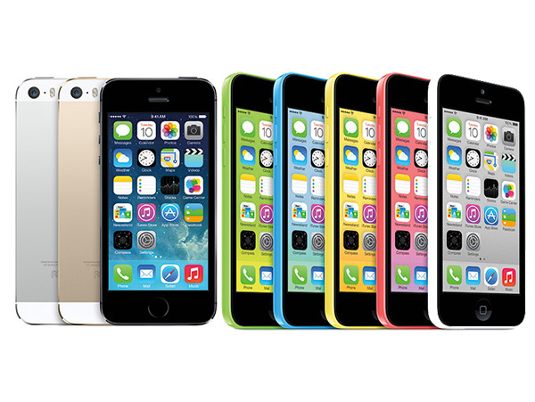 Apple's iPhone 5S and 5C lineup.
