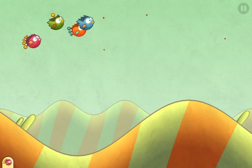 In Tiny Wings' new Flight School mode, you race against three AI-controlled birds.