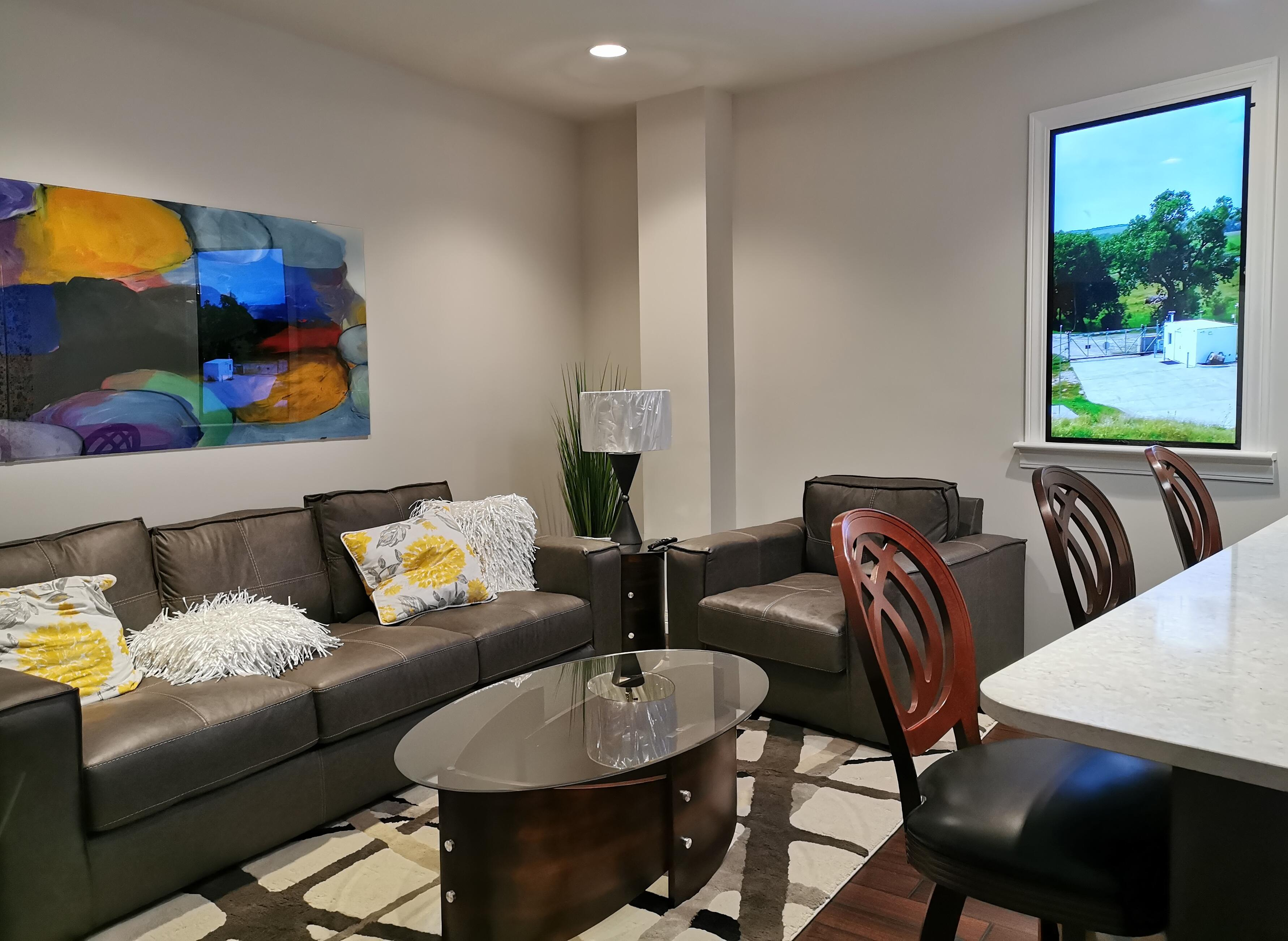 Lounge room in the Survival Condo