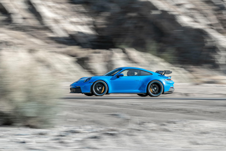 2022 Porsche 911 GT3 at speed