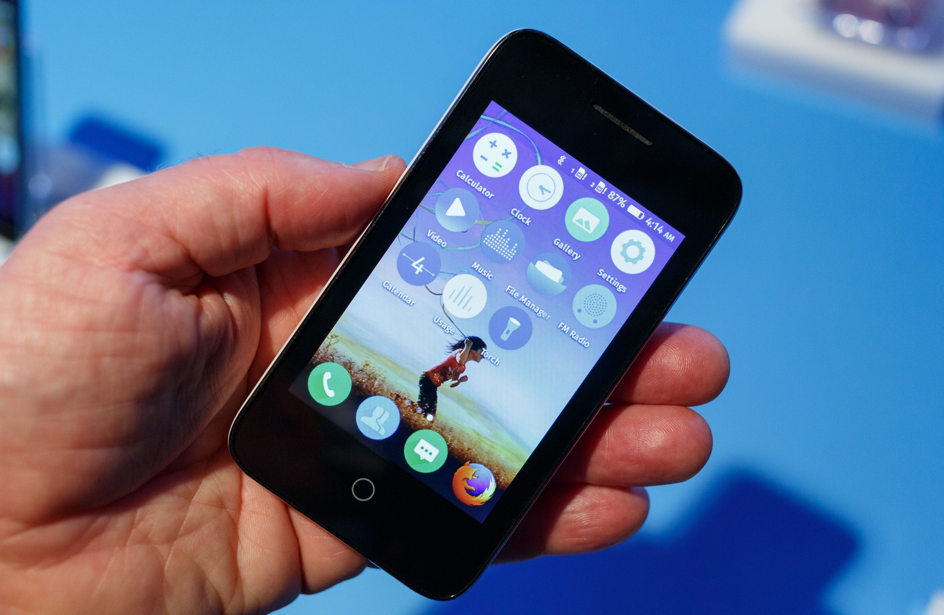 The Orange Klif is Firefox OS phone that the French carrier will sell in 13 African and Middle Eastern countries starting in the second quarter of 2015. The price of up to $40 includes six months of voice, text, and data service.