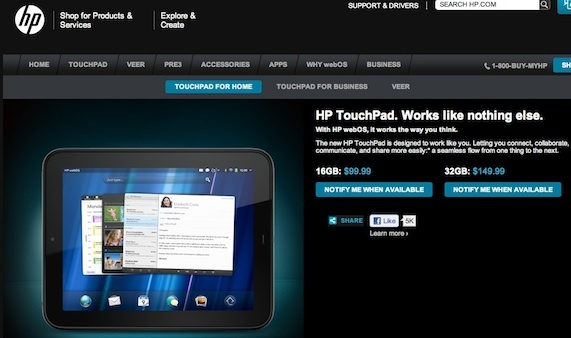 Though inventory sold out online and at stores in less than 12 hours, the TouchPad is still listed for $99.99 on HP's site. The product was a success, says analyst Roger Kay.