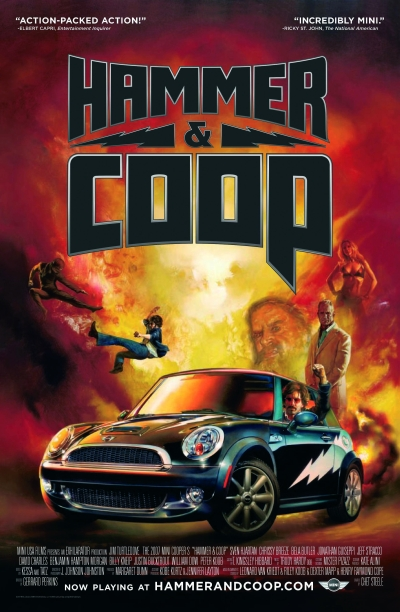 Promotional poster for Mini's Hammer and Coop.