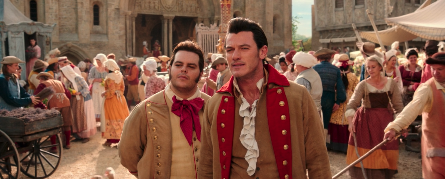 LeFou and Gaston in 2017 Beauty and the Beast