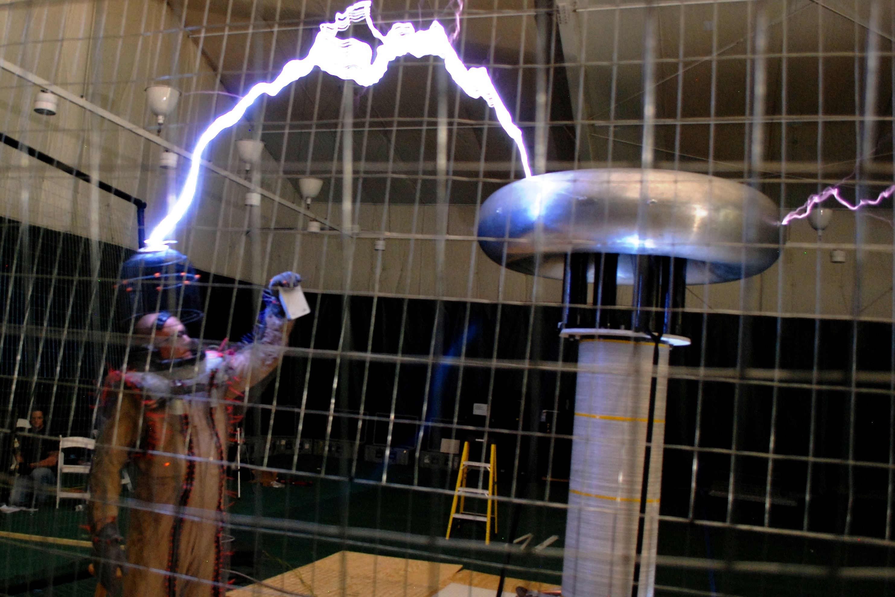The IoSafe Rugged Portable Thunderbolt being zapped by a million-watt Tesla coil. But that's not the real message.