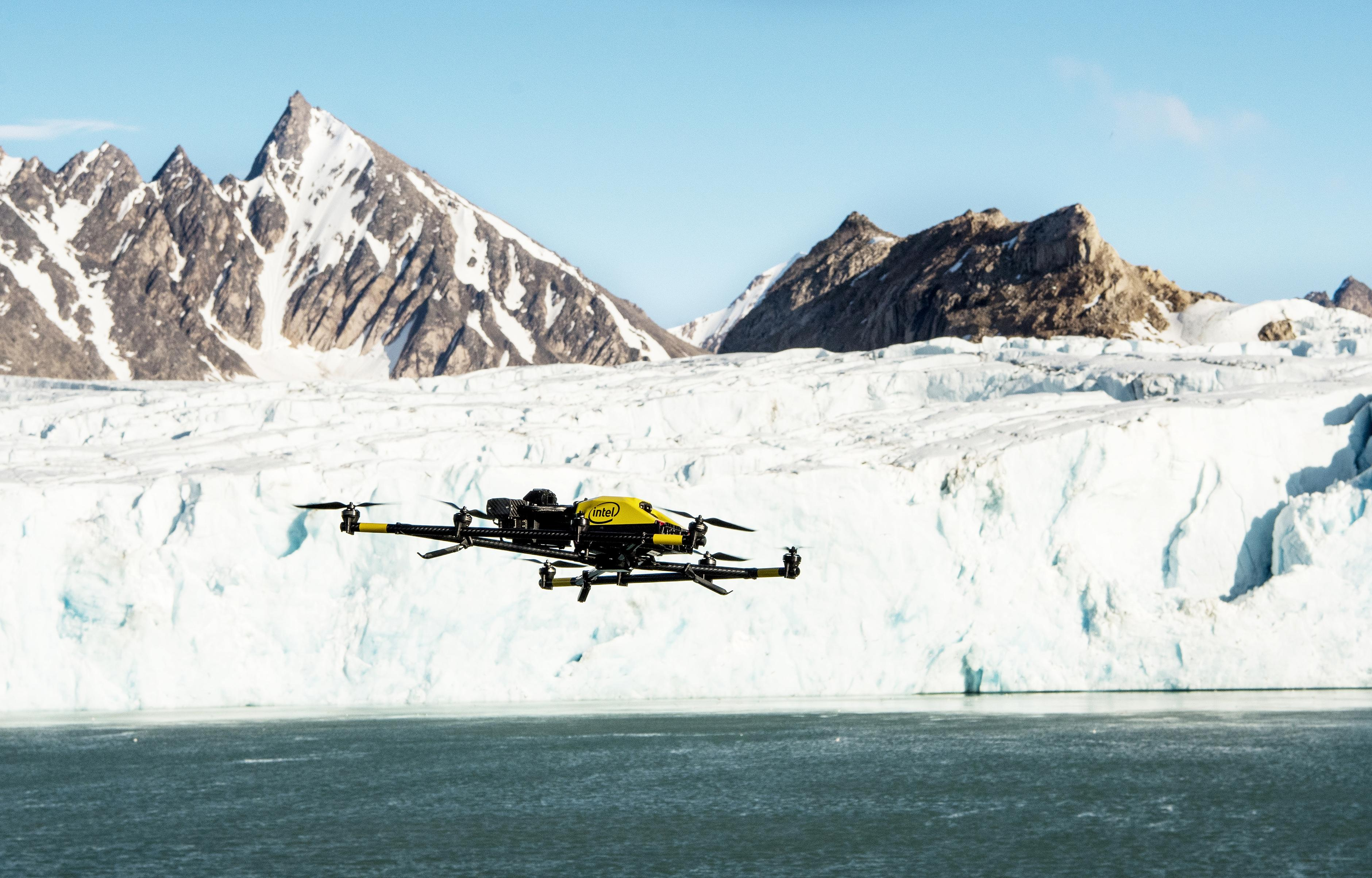 Intel's Falcon 8+ drones have been used for polar bear research in difficult environmental conditions.