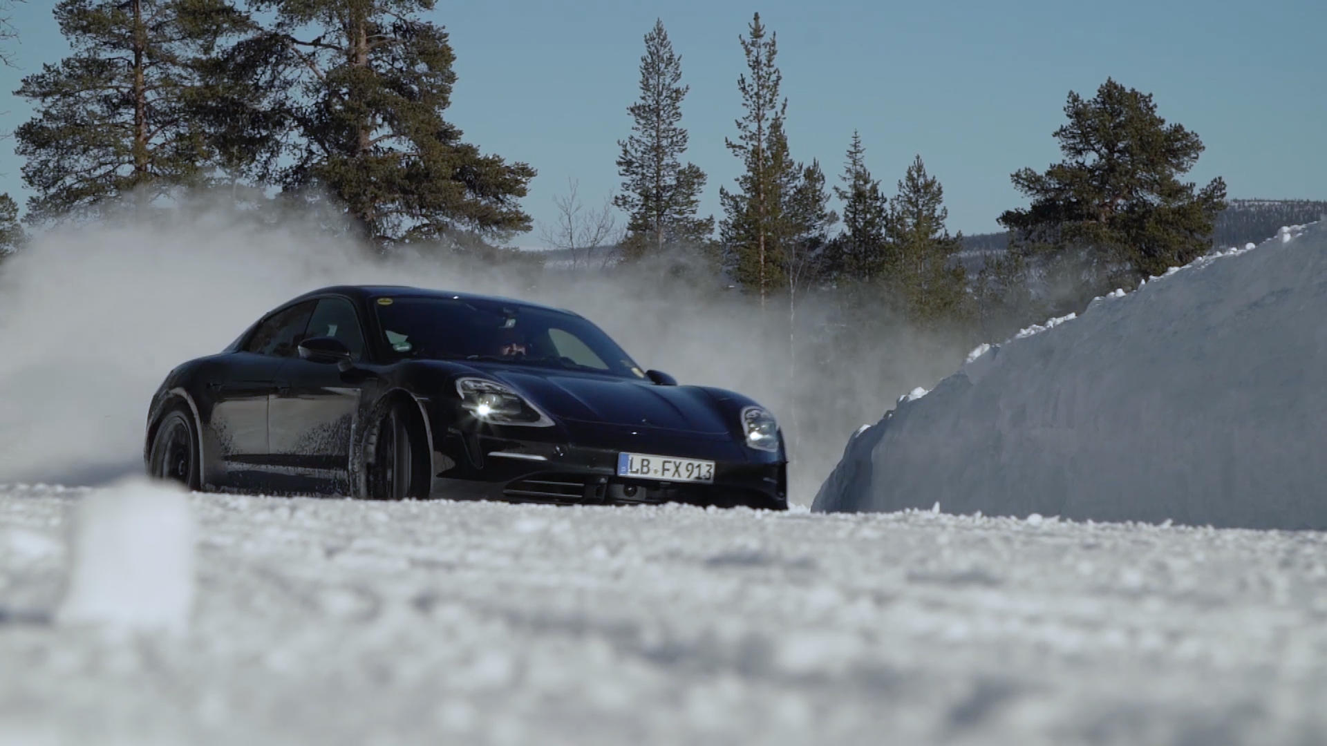 Video: Ice drifting in Porsche's all-electric Taycan