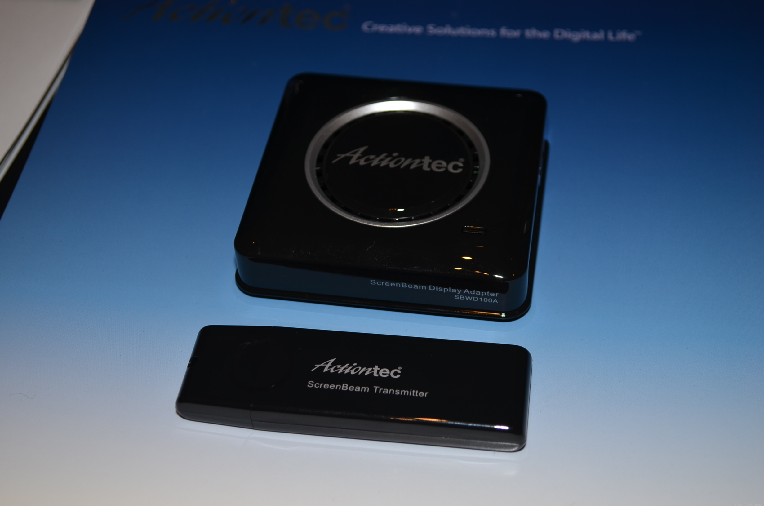 The ScreenBeam kit from Actiontec at CES 2013