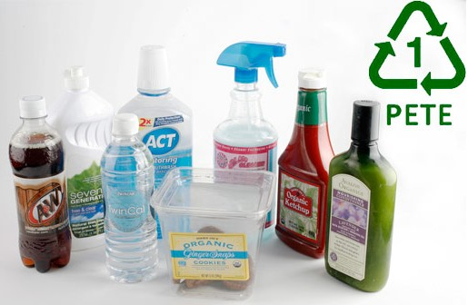 Click on this image for a photo gallery showing what's within the major types of plastic.