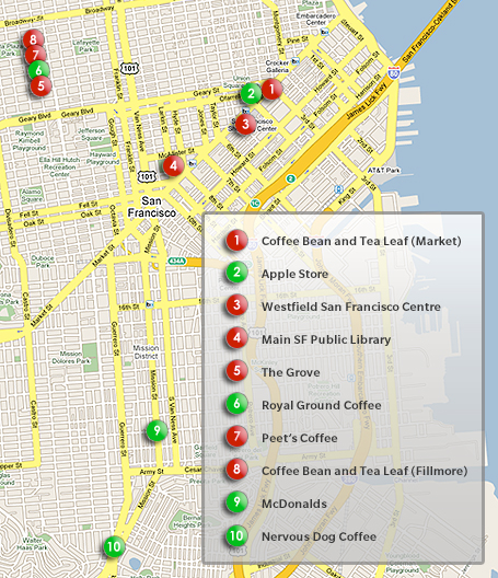 Click here to see all of the Wi-Fi places CNET checked out.