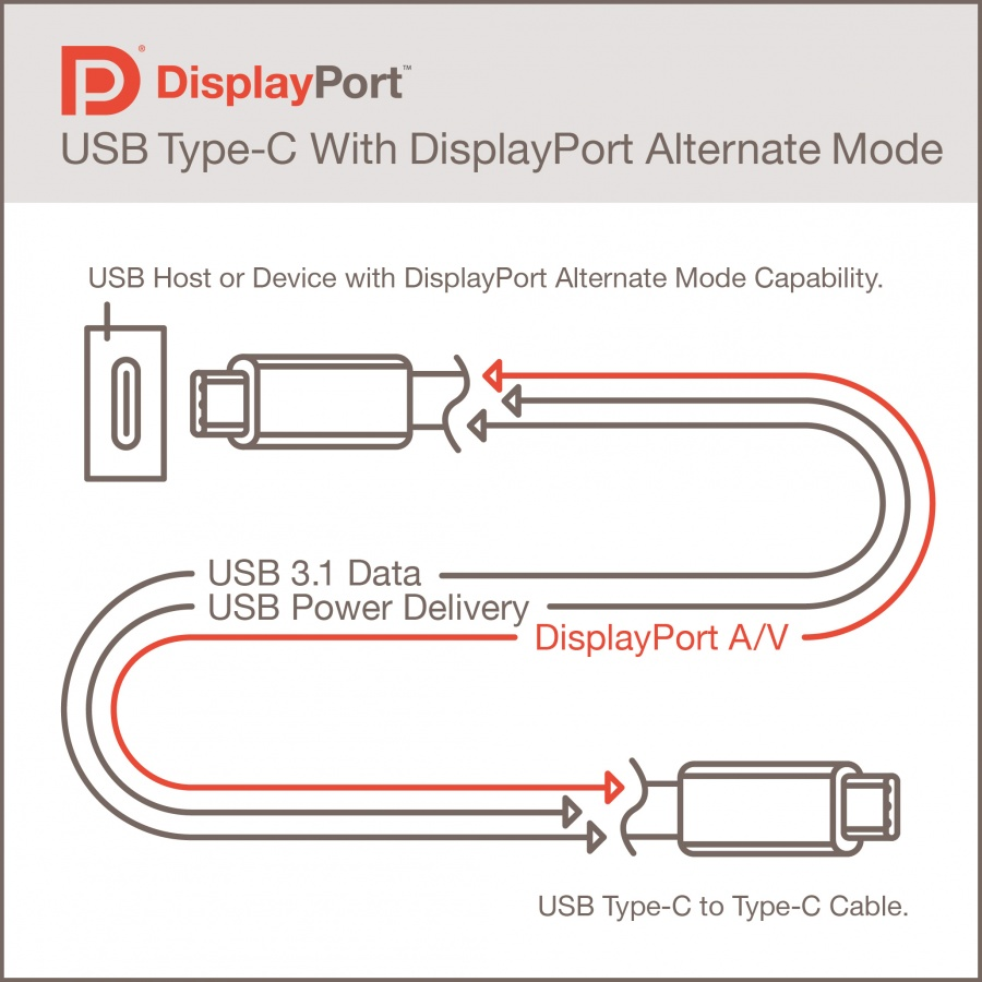 The upcoming USB Type-C connectors also will be able to carry DisplayPort video signals.
