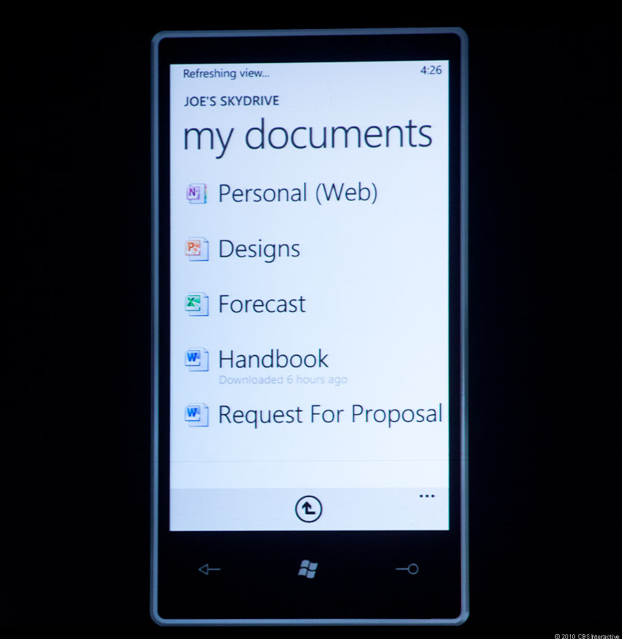 A look into Skydrive on Windows Phone 7