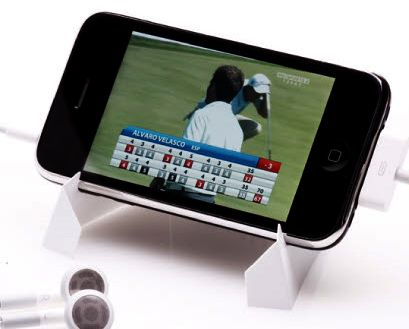 Simple, sturdy, and collapsible, the iFoldAway stand is good for all kinds of phones and media players.