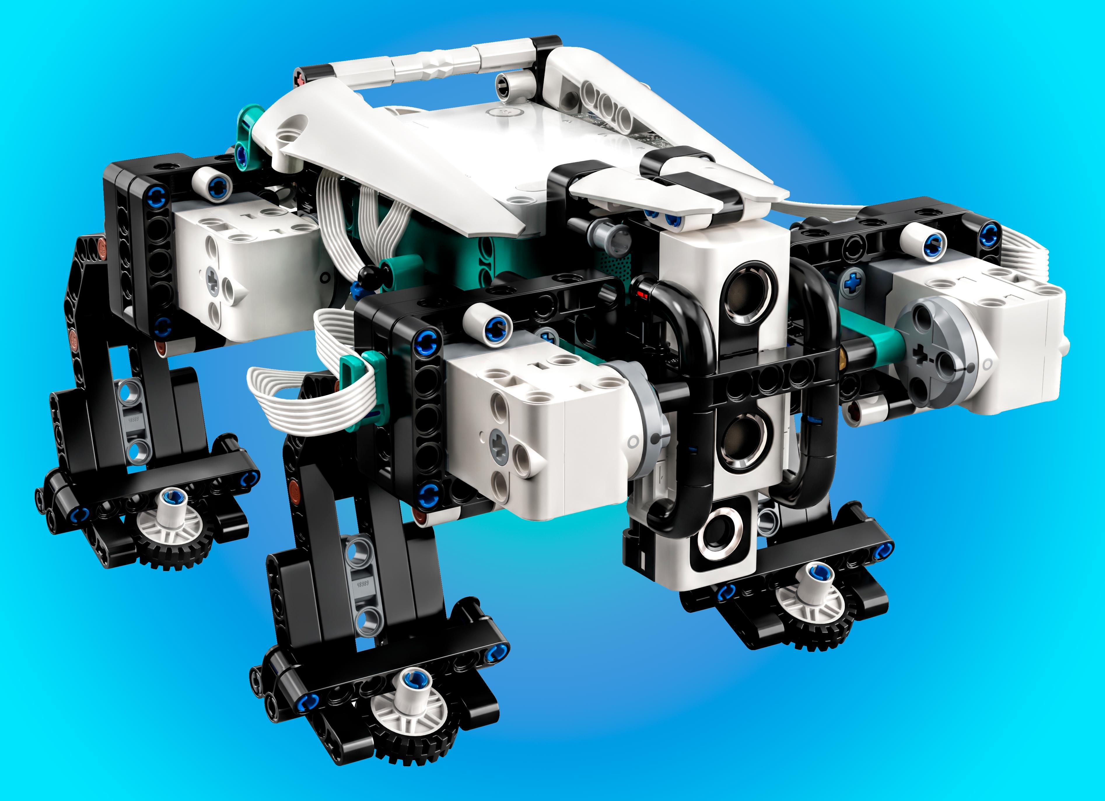 The Lego Mindstorms Gelo, a quadrupedal robot, is one of five programmable, computer controlled robots available in the Robot Inventor kit.