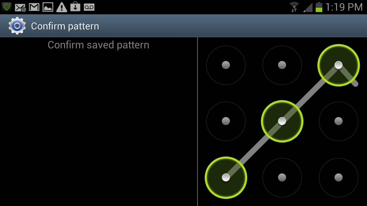 Android Pattern grid