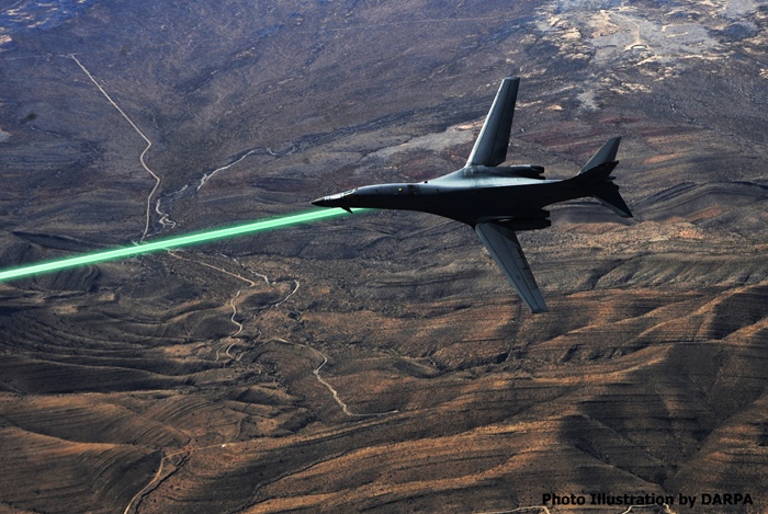B-1B with laser