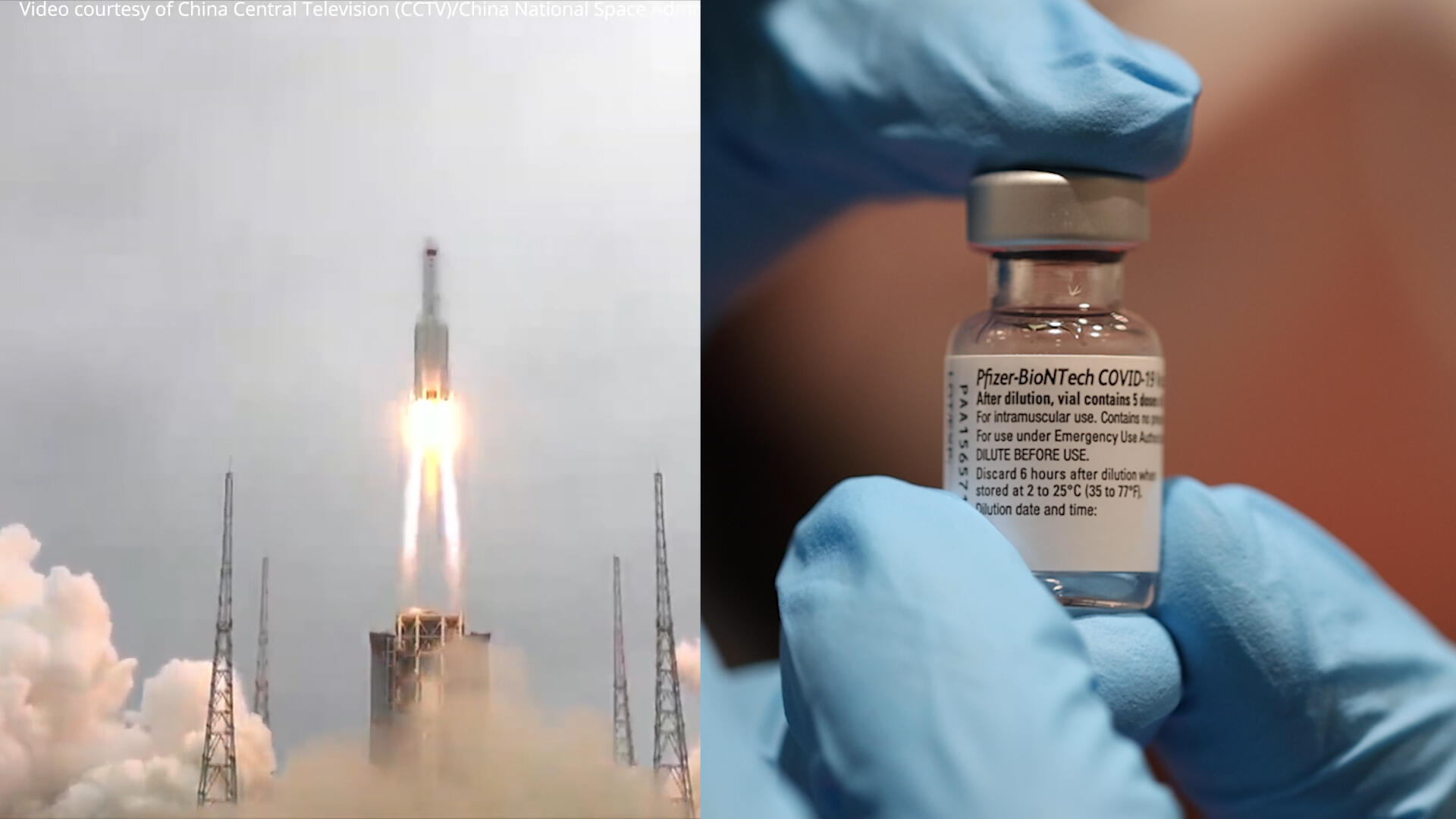 Video: Pfizer seeks FDA approval, and a Chinese rocket is expected to crash back to Earth