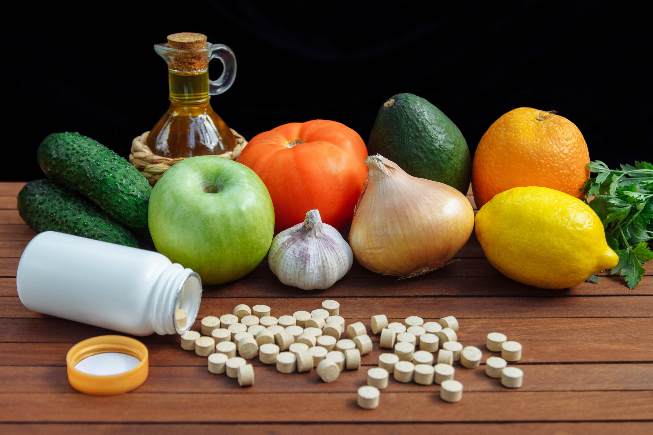 vitamins fruits and vegetables