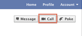 Want to start a video chat with someone on Facebook? It's hard to miss the option to do it.
