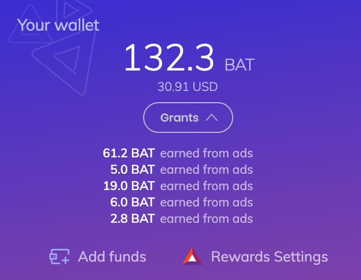 Seeing ads in Brave can generate payments, and now the browser lets you retrieve those funds. By default, if you opt into the system, Brave sends the payments back to publishers.