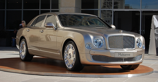 The Bentley Mulsanne on display in San Francisco, Calif.
