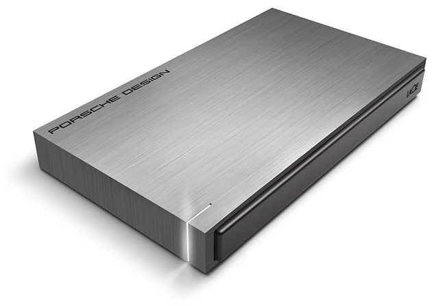 The Porsche Design mobile hard drive from LaCie