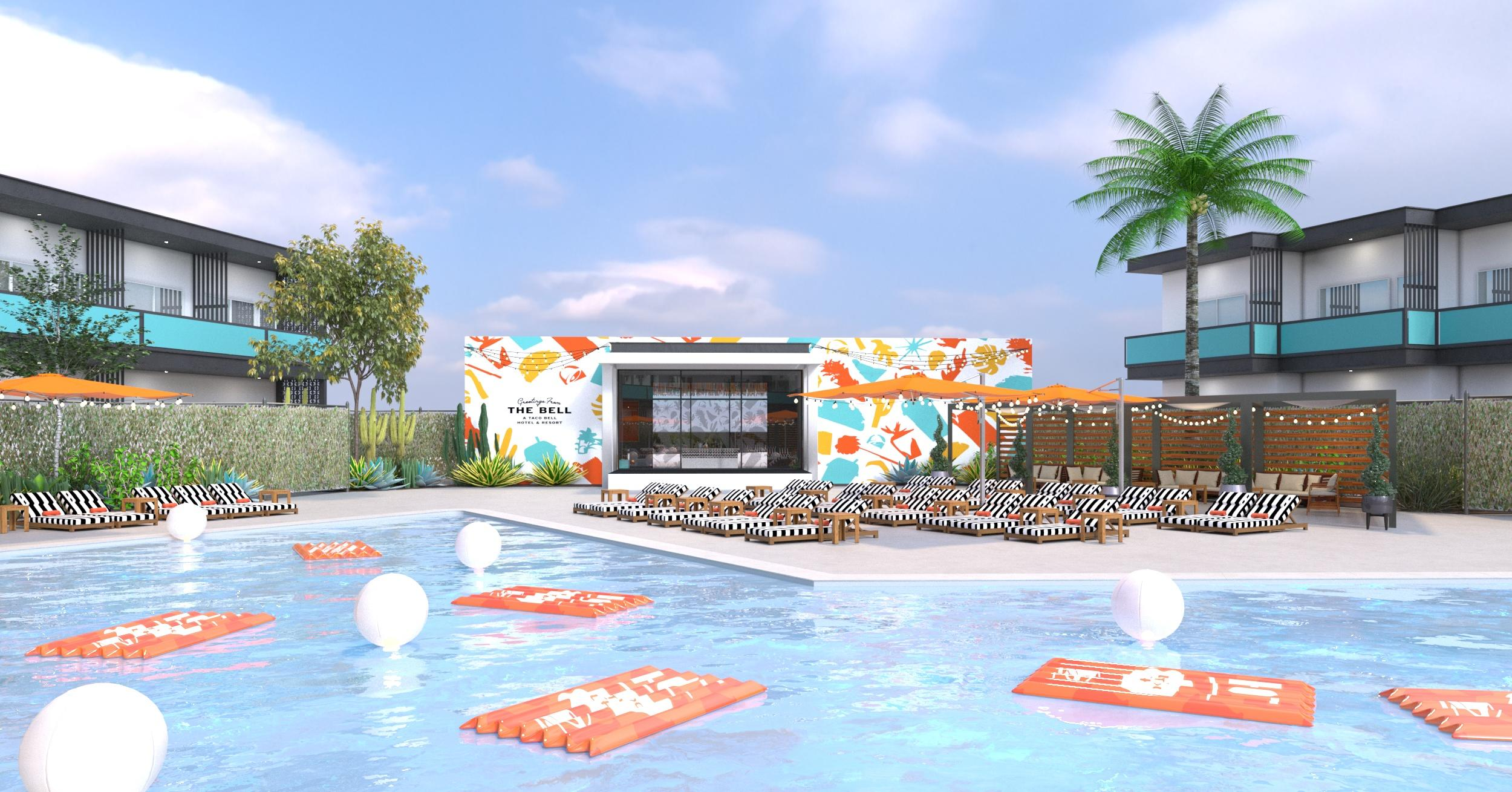 the-bell-a-taco-bell-hotel-resort-pool-view