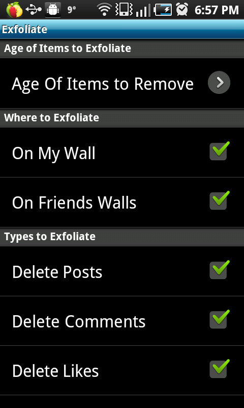 Step 2: Choose data to delete.