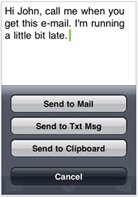 Dragon Dictation for the iPhone and iPod Touch