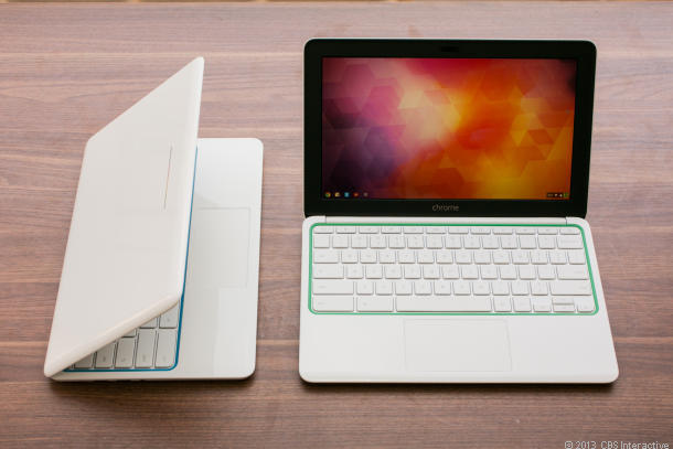 HP's Chromebook 11 is priced at $279.  One of the reasons for Chromebooks increasing popularity.