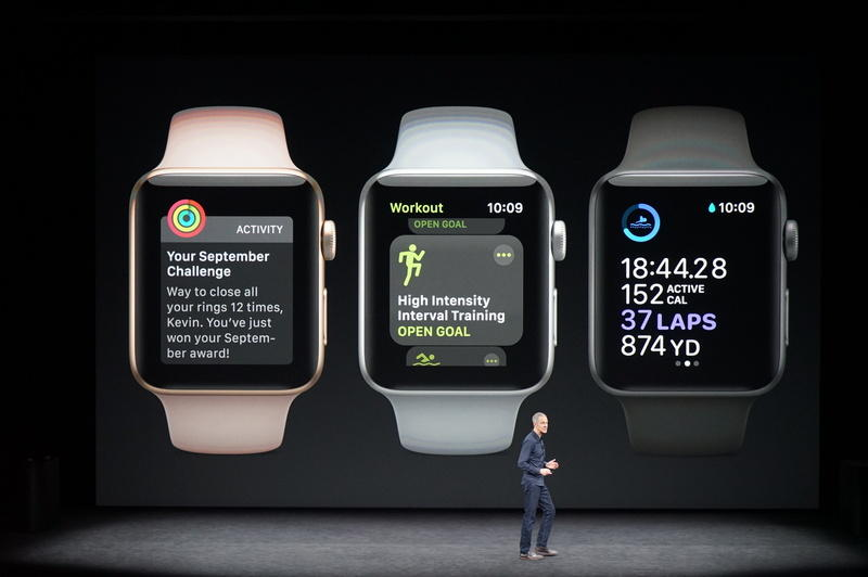 Apple exec Jeff Williams introducing new features for the next Apple Watch.