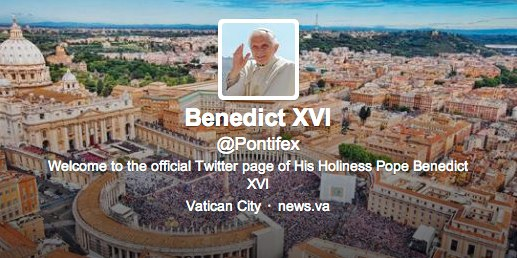 A look at the Pope's Twitter image.