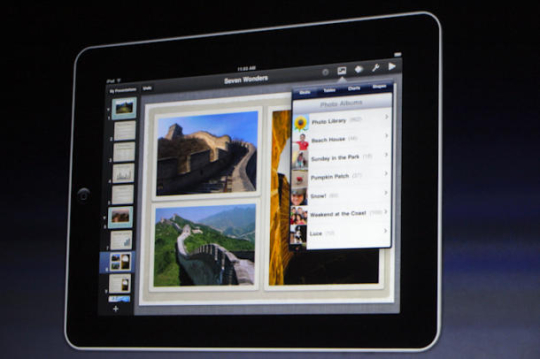 Keynote for iPad.