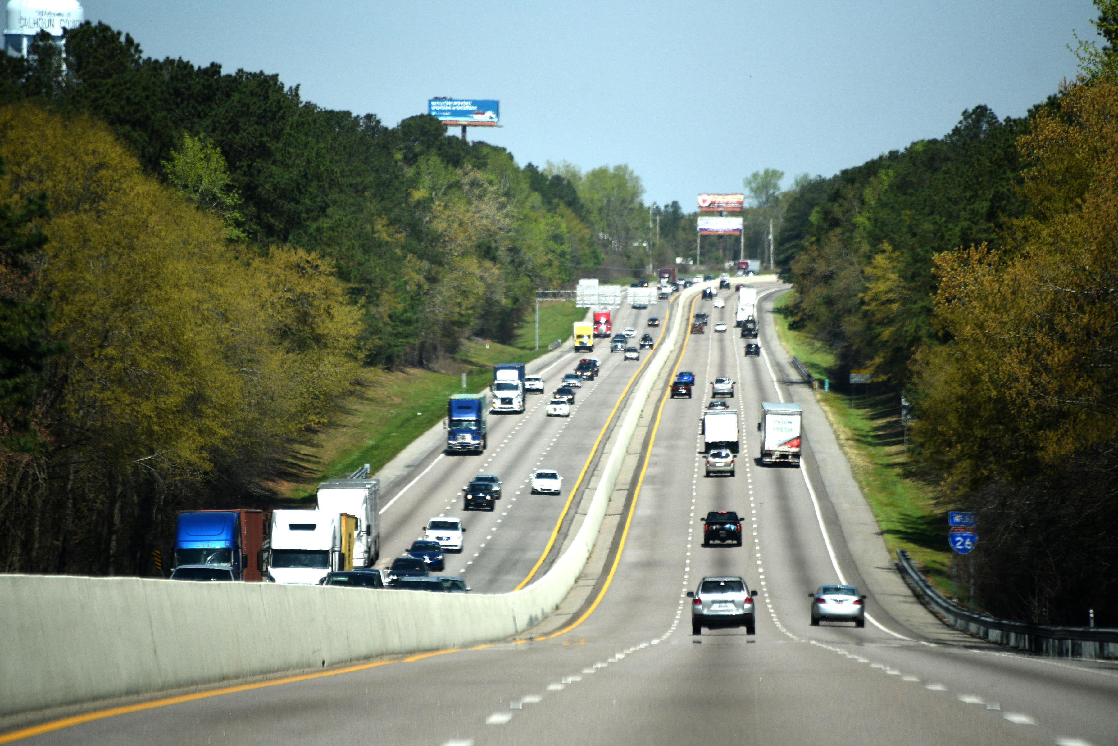 Traffic on Interstate route 26