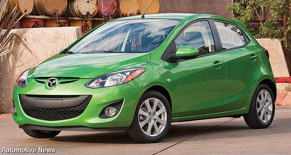 Mazda expects U.S. sales of subcompacts, including the Mazda2, to double to 1 million a year by 2012.